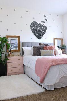Small Room Bedroom, Trendy Bedroom, Modern Bedroom, Bedroom Wall, Girls Bedroom, Bedroom Furniture, Bedroom Decor, Bedroom Ideas, Bedroom Designs