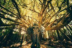 Shiva Tree Temple located at the Kauai Hindu Monastery on Kauai, Hawaii.