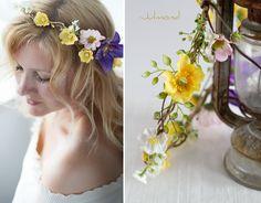 Blumenkranz Flower Haarband Brautkranz *Marcy* von Julmond auf DaWanda.com