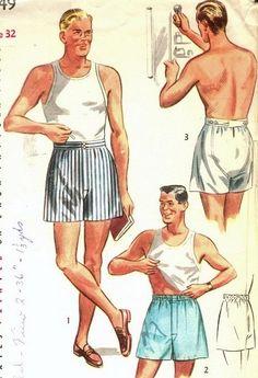 Vintage 1950's Men's Underwear
