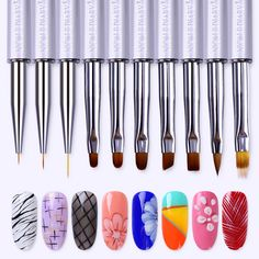 NICOLE DIARY Liner Painting Pen UV Gel Drawing Brush with Cap Gradient Pearl Laser Rhinestone Handle Manicure Nail Art Tool-in Nail Brushes from Beauty & Health on Aliexpress.com | Alibaba Group