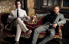 Oh my.... Perfection <3 / Tom Hiddleston & Chris Hemsworth