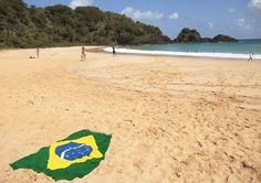 Vista da Praia do Sancho Beach Mat, Golf Courses, Tourism, Outdoor Blanket, Wedding Photography, Water, Summer, Travel, Rainy Season