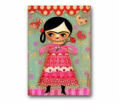 Valentine hearts FRIDA Kahlo - TASCHA