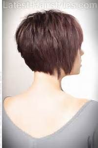 Side back Textured bob. Short Haircut with Volume and Texture Back View | Great Hairstyles ...