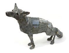 Hannah Kidd - Loxy (2012) Sculpture Projects, Dog Sculpture, Sculptures, Scrap Metal Art, Medium Art, Cool Art, Iron, Statue, Steel