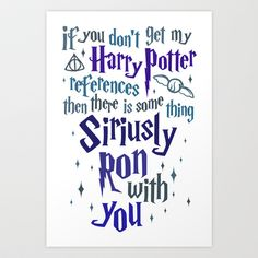 Harry Potter References Art Print by LookHUMAN  - $20.00