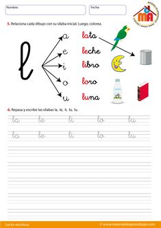 letra L Spanish Teaching Resources, School Resources, French Language Learning, Book Girl, Phonics, Teaching Kids, Elementary Schools, Homeschool, Education
