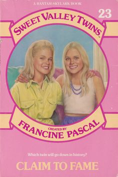35 best sweet valley twins images on pinterest twin twins and 23 sweet valley twins claim to fame by francine pascal fandeluxe Image collections