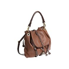 Overland Vanya Lambskin Leather Convertible Crossbody Backpack Handbag (1,065 ILS) ❤ liked on Polyvore featuring bags, handbags, shoulder bags, brown crossbody purse, handbags crossbody, vintage rucksack, drawstring backpack and convertible backpack purse