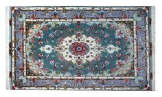 www.tappeti-irana.com  #TABRIZ 60 RAJ #TAPPETO #PERSIANO LANA KORK E SETA ,TRAMA SETA, MISURA : 157 X 96 #homedecor #design #interior #oriental #rugs #art