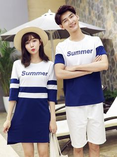 Preppy Style Fashion Couple Shirt