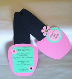 SPA PARTY INVITATIONS Nail Polish Invitations by CreationsbyColett