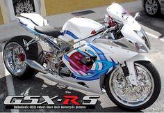 2005 GSXR 1000   White Chrome