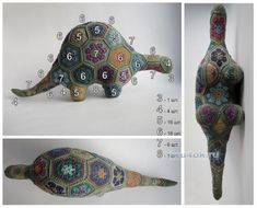 53 ideas knitting animals african flowers for 2019 Crochet Toys Patterns, Crochet Motif, Amigurumi Patterns, Diy Crochet, Crochet Crafts, Yarn Crafts, Crochet Flowers, Crochet Projects, Crochet Amigurumi