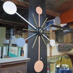 Massive Lighted Atomic Style Wall Clock 4