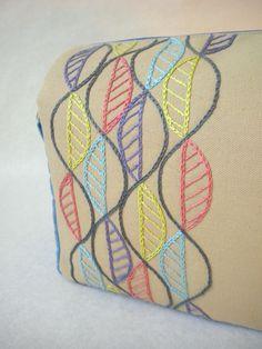 Harujion Design: Modern Embroidery Messenger / Shoulder bag | DiyReal.com