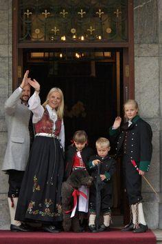 Prince Haakon of Norway Princess MetteMarit of Norway Princess Ingrid Alexandra of Norway Prince Sverre Magnus of Norway Marius Borg Hoiby and their...