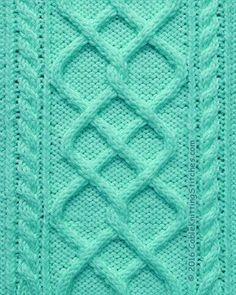 Cable Knitting Stitches »  Cable pattern 3 »  Argyle Diamonds and 2/2RC, 2/2LC