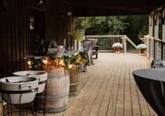 The Barn at Tall Oaks, in Hendersonville, NC, has got a lovely, rustic feel ❤️❤️ Rustic Feel, Barn, Table Decorations, Wedding, Home Decor, Valentines Day Weddings, Converted Barn, Decoration Home, Room Decor