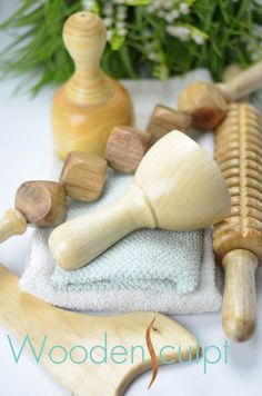 Massage Toolkit https://www.etsy.com/listing/176849974/wooden-massage-therapy-kit-set-of-5