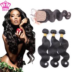 7A Brazilian Virgin Hair With Silk Base Closure,Body Wave Silk Base Closure With 3 Bundles Virgin Human Hair With Silk Closures - http://jadeshair.com/7a-brazilian-virgin-hair-with-silk-base-closurebody-wave-silk-base-closure-with-3-bundles-virgin-human-hair-with-silk-closures/  Hair Weft & Closure ( & Bang)