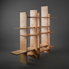 Bookcase by Tom Maher & Eamon Peregrine Crate Bookshelf, Bookshelves Kids, Bookcases, Cool Furniture, Furniture Design, Contemporary Shelving, Contemporary Design, Tinted Mirror, Outdoor Toys For Kids