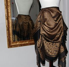 Black and gold hankerchief skirt - Folksy
