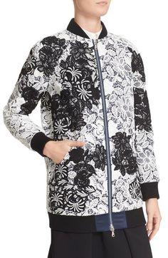 Sewing inspo: Self-Portrait lace bomber jacket