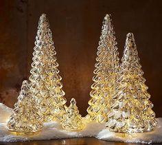 Lit Mercury Glass Tree #potterybarn