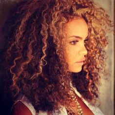 Super big and curly natural hair! My hair could never do this but it's beautiful.