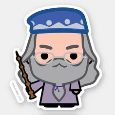 Dumbledore Cartoon Character Art Sticker , Check out this cute Harry Potter cartoon character art for Professor Dumbledore! Harry Potter Clip Art, Harry Potter Tumblr, Harry Potter Anime, Stickers Harry Potter, Cute Harry Potter, Theme Harry Potter, Harry Potter Drawings, Harry Potter Characters, Harry Potter Memes