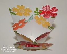 Kelly Acheson's Cascading Card inside view