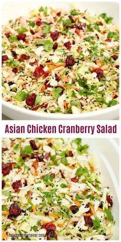 ASIAN CHICKEN CRANBERRY SALAD - Enjoyed Life