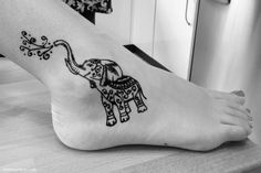 Elephant Henna Tattoo by ellawayfarer.com More