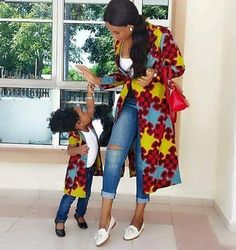 I love this mummy and daughter duo, they are really stylish in their long Ankara…