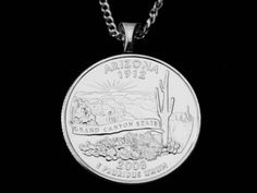 ARIZONA  Grand Canyon State  Value Necklace by CustomCoinJewelry