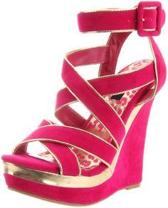 Amazon.com: Dollhouse Women's Caliber Wedge Sandal: Shoes