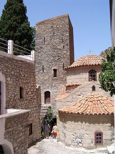 St. Panteleimon monastery, Tilos, Greece - built in 1470