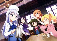 widescreen hd is the order a rabbit Kawaii Anime, Chica Anime Manga, All Anime, What Day Is Today, Uzumaki Boruto, Face Illustration, Image Manga, Anime Screenshots, Yandere