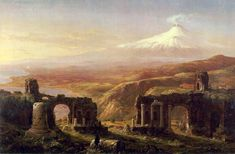 messages from the permian - Mount Aetna from Taormina, Thomas Cole, 1844