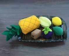 Tropical fruit felt food pattern $5.00
