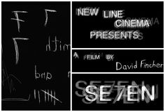 A grotesque vision seen through the eyes of a killer in David Fincher and Kyle Cooper's fragmented opening titles for Se7en.