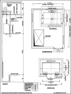 hospital lift dimensions - 350×461