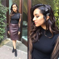 Shraddha Kapoor in black outfit dress
