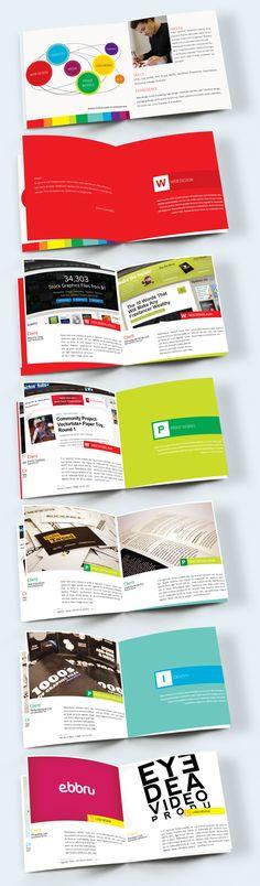 Brochure Designs: 25 Design For Your Inspiration - Fun Graphics - Ideas of Fun Graphics - Portfolio Booklet Portfolio Design, Design Blog, Page Design, Layout Design, Print Design, Flyer Design, Portfolio Ideas, Booklet Design, Resume Design Template