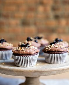 chocolate cupcakes + spiced cherry filling + chocolate ganache | what's cooking good looking