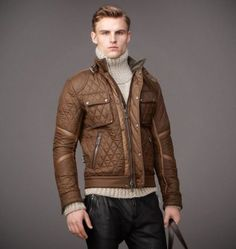 Buy Brown Cranwell Style Leather Jacket $184.99
