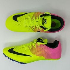 info for 8826e 5b39d Nike Zoom Rival S 8 Track Shoes Women s Sz 8 Sprint Spikes Pink Volt  806558-999