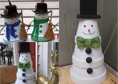 bricolage-hiver-Avent-bonhomme-neige-pots-argile bricolage hiver